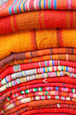 South American hand made colourful fabric, Peru. — Stok fotoğraf