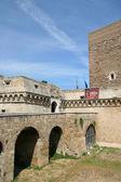 швабский замок или кастелло свево, (норман гогенштауфен замок), бари, апулия, италия — Стоковое фото