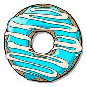 Cartoon donut — Stock Vector