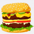 Stock Vector: Burger Illustration.
