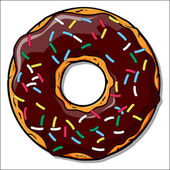 Cartoon donut illustration. — Stock Vector