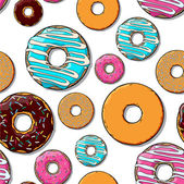 Donut seamless texture. — Stock Vector