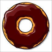 Cartoon donut illustration. — Stock Vector