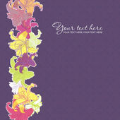 Artistic flower background. — Stock Vector