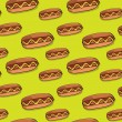 Royalty-Free Stock Vector Image: Hot dog seamless texture. Vector
