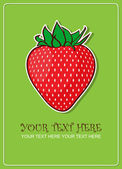 Strawberries greeting card. Vector illustration — Stock Vector