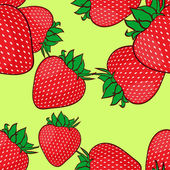 Seamless pattern with strawberries. Vector illusrtation — Stock Vector