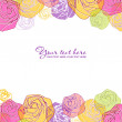 Artistic flower greeting card. - Stok Vektör