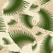 Palm leaf seamless pattern. — Stock Vector