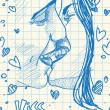 Royalty-Free Stock : Boy and girl kissing.