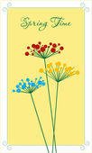 Spring flowers card. — Stock Vector