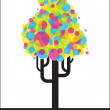 Abstract funky tree from balloons. — Stock Vector