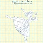 Ballerina in a writing-book — Stock Vector #15886831