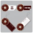 Vector set of tags and stickers with donut. — Stock Vector