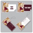 Vector set of tags and stickers with cartoon hamsters. - Stock Vector