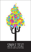 Astratto albero funky da palloncini. — Vettoriale Stock
