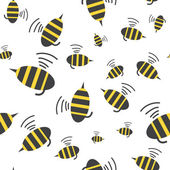 Bee seamless pattern — Stock Vector