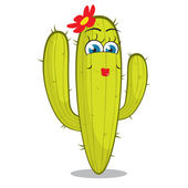 Dívka kaktus charakter. — Stock vektor