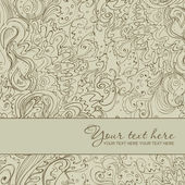 Abstract floral greeting card. — Vector de stock
