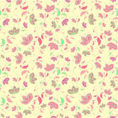 Artistic floral seamless texture. — Stock Vector