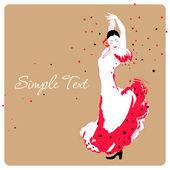 Flamenco dancer. — Stock Vector