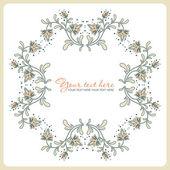 Tarjeta flor vintage, — Vector de stock
