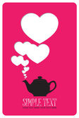 Abstract illustration of teapot with hearts. — Stock Vector