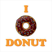 Ilustração vetorial com texto e donut. — Vetorial Stock