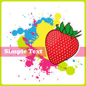 Strawberries on a withe background with blots. — Stock Vector