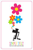 Vector illustration with old meat-grinder and flowers. — Stock Vector