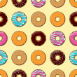 Royalty-Free Stock Vector Image: Seamless Texture of Donuts