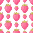 Royalty-Free Stock Vector Image: Seamless pattern with strawberries. Vector illustration