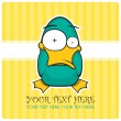 Funny duck vector illustration. Place for your text. — Stock vektor