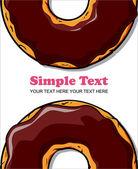 Donut vector illustration. — Stock Vector