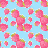 Seamless pattern with strawberries. Vector illustration — Stock Vector