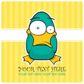 Funny duck vector illustration. Place for your text. — Stock Vector