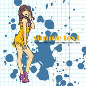 Fashion girl in sketch-style. Vector illustration. Place for your text. — Stock Vector
