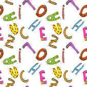 Texture seamless alfabeto infantile. illustrazione vettoriale. — Vettoriale Stock