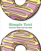 Donut vector illustration. Place for your text. — Stock Vector