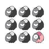 Vektorové ilustrace s ovcí. — Stock vektor
