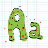 Lettre a de l'alphabet de bonbons. illustration vectorielle — Vecteur