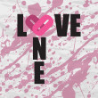 One love non-grunge text on a paper-background. Vector — Stock Vector #19479367