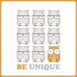 Vector illustration with cute cartoon hamsters. - Stock Vector