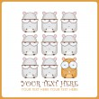 Vector illustration with cute cartoon hamsters. Place for your text. - Stock Vector