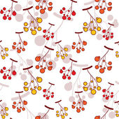 Seamless vector pattern with wild berries. — Stock Vector