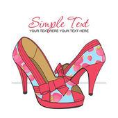мода обувь с клубникой принт. векторные иллюстрации. место для текста. — Cтоковый вектор