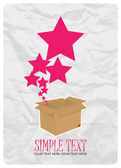 Estrellas que despegaba de una caja. ilustración vectorial abstracto. lugar para el texto. — Vector de stock