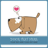 Funny doggy in sketch style. Vector illustration. — Stock Vector