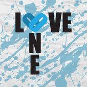 Kağıt arka plan üzerinde bir aşk grunge metin. vektör — Stok Vektör