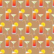 Vector seamless texture with cocktails and martini. - Stock Vector
